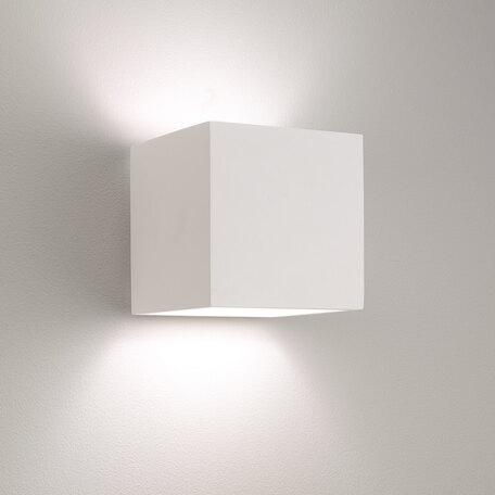 Настенный светильник Astro Pienza 1196003 (7153), 1xE27x60W, белый, под покраску, металл, гипс