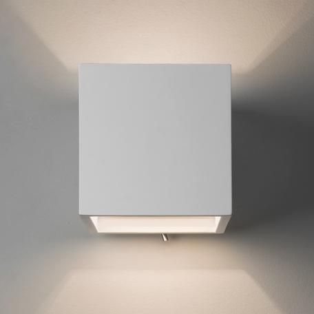Настенный светильник Astro Pienza 1196004 (7260), 1xE14x60W, белый, под покраску, металл, гипс