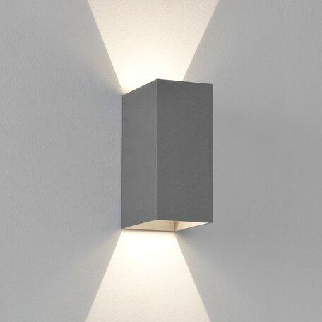 Настенный светодиодный светильник Astro Oslo 1298001 (7060), IP65, LED 6W 3000K 99.37lm CRI80, серый, металл, стекло