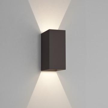 Настенный светодиодный светильник Astro Oslo 1298002 (7061), IP65, LED 6W 3000K 99.37lm CRI80, черный, металл, стекло