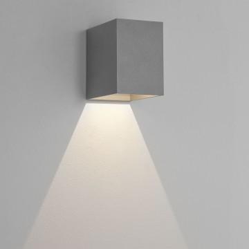 Настенный светодиодный светильник Astro Oslo 1298003 (7108), IP65, LED 3,8W 3000K 47.08lm CRI80, серый, металл, стекло