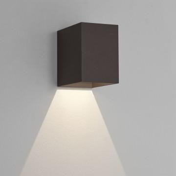 Настенный светодиодный светильник Astro Oslo 1298004 (7109), IP65, LED 3,8W 3000K 47.08lm CRI80, черный, металл, стекло