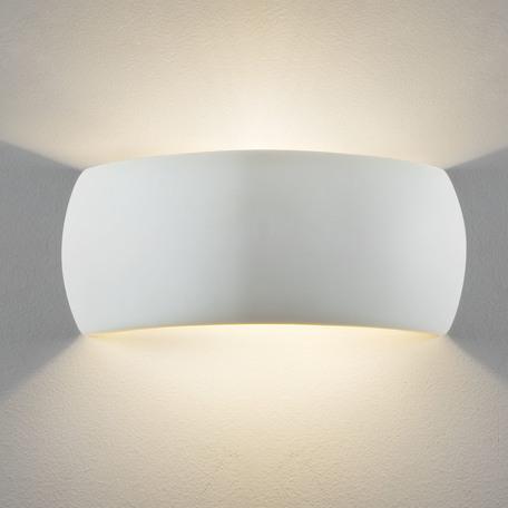 Настенный светильник Astro Milo 1299001 (7073), 1xE27x60W, белый, под покраску, керамика