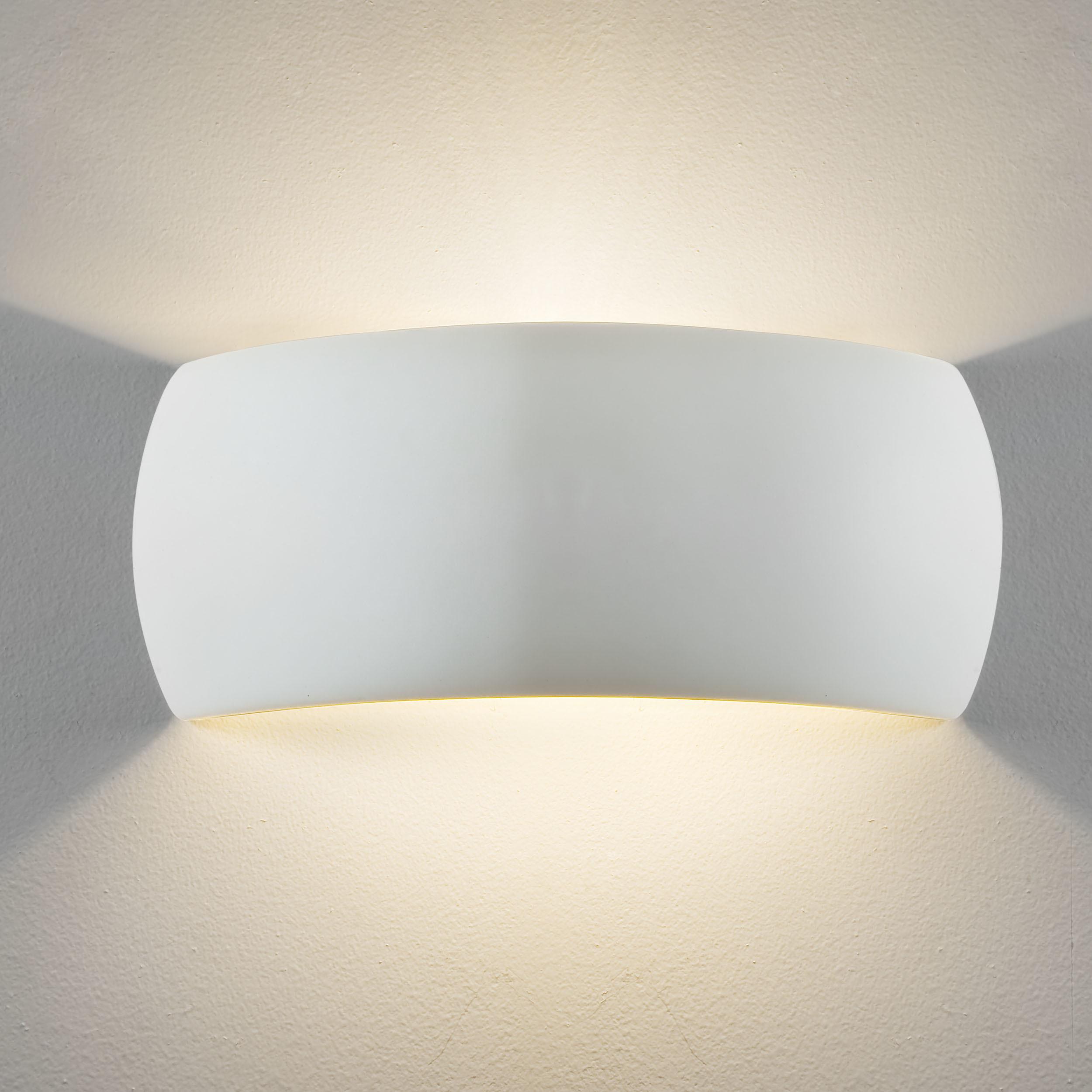 Настенный светильник Astro Milo 1299001 (7073), 1xE27x60W, белый, под покраску, керамика - фото 1