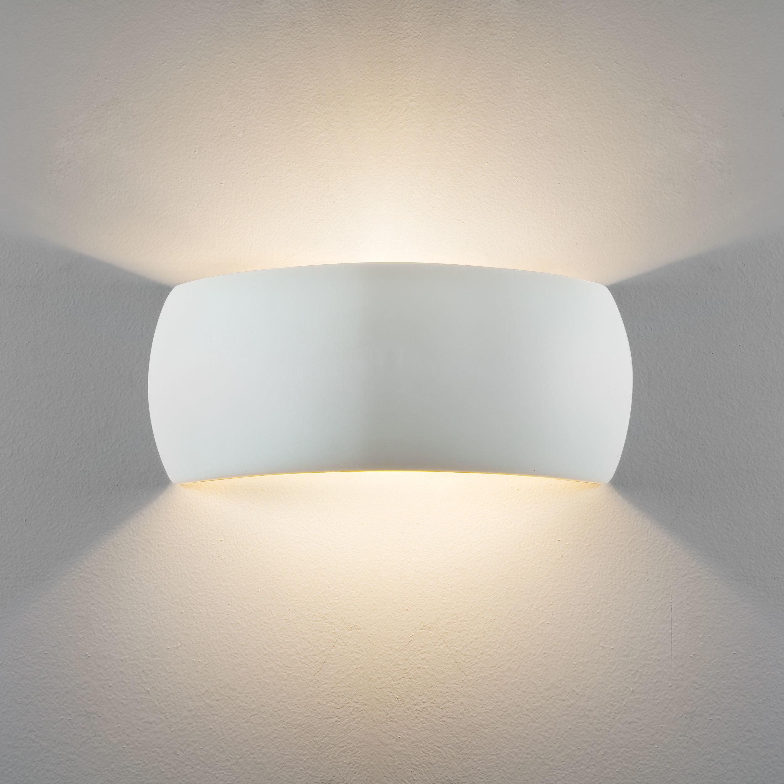 Настенный светильник Astro Milo 1299001 (7073), 1xE27x60W, белый, под покраску, керамика - фото 2