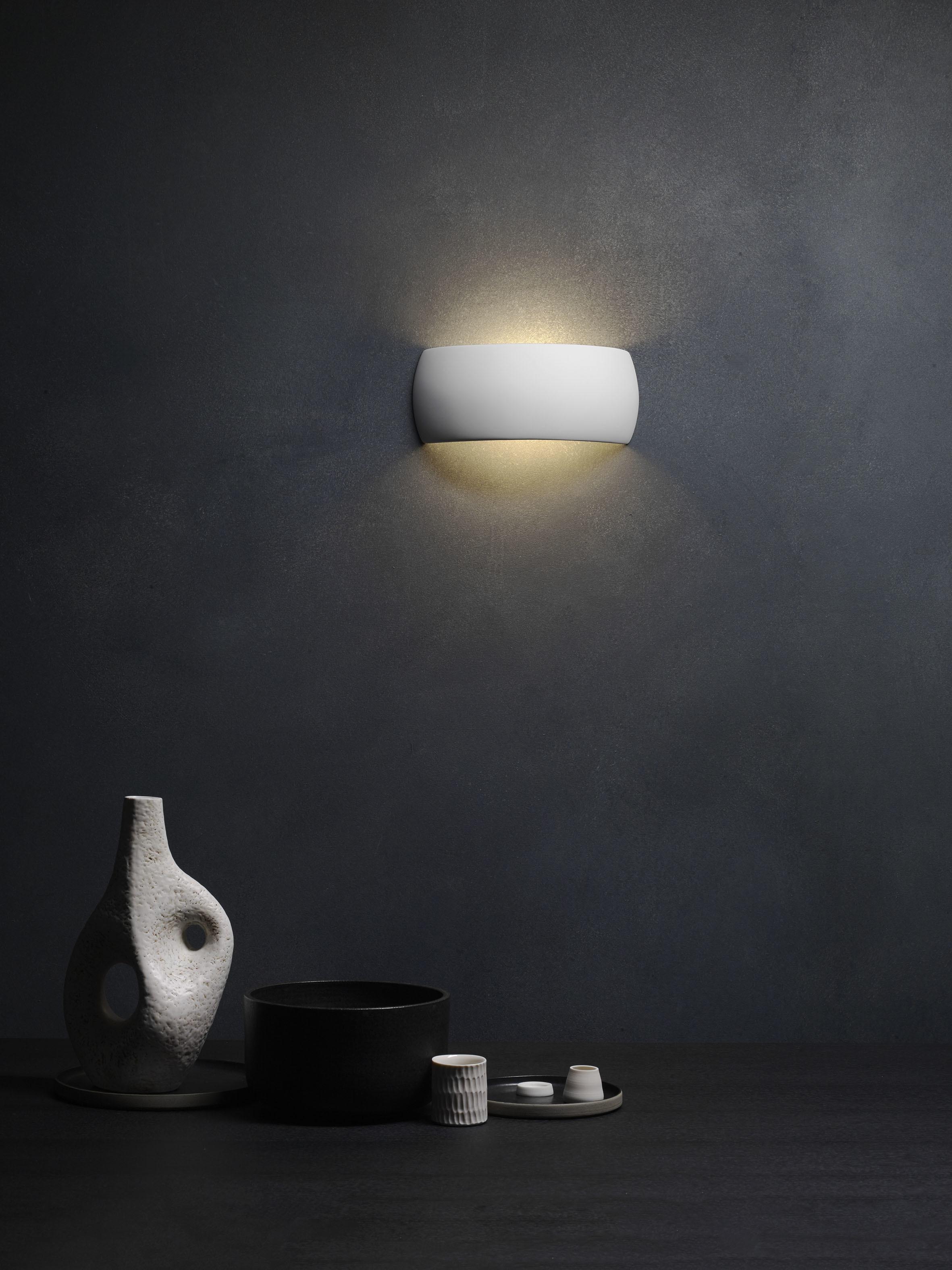 Настенный светильник Astro Milo 1299001 (7073), 1xE27x60W, белый, под покраску, керамика - фото 4