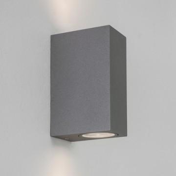 Настенный светильник Astro Chios 1310003 (7127), IP44, 2xGU10x6W, прозрачный, серый, металл, стекло