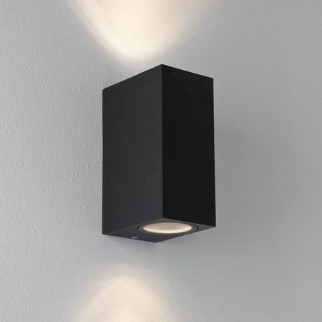 Настенный светильник Astro Chios 1310004 (7128), IP44, 2xGU10x6W, прозрачный, черный, металл, стекло - миниатюра 1