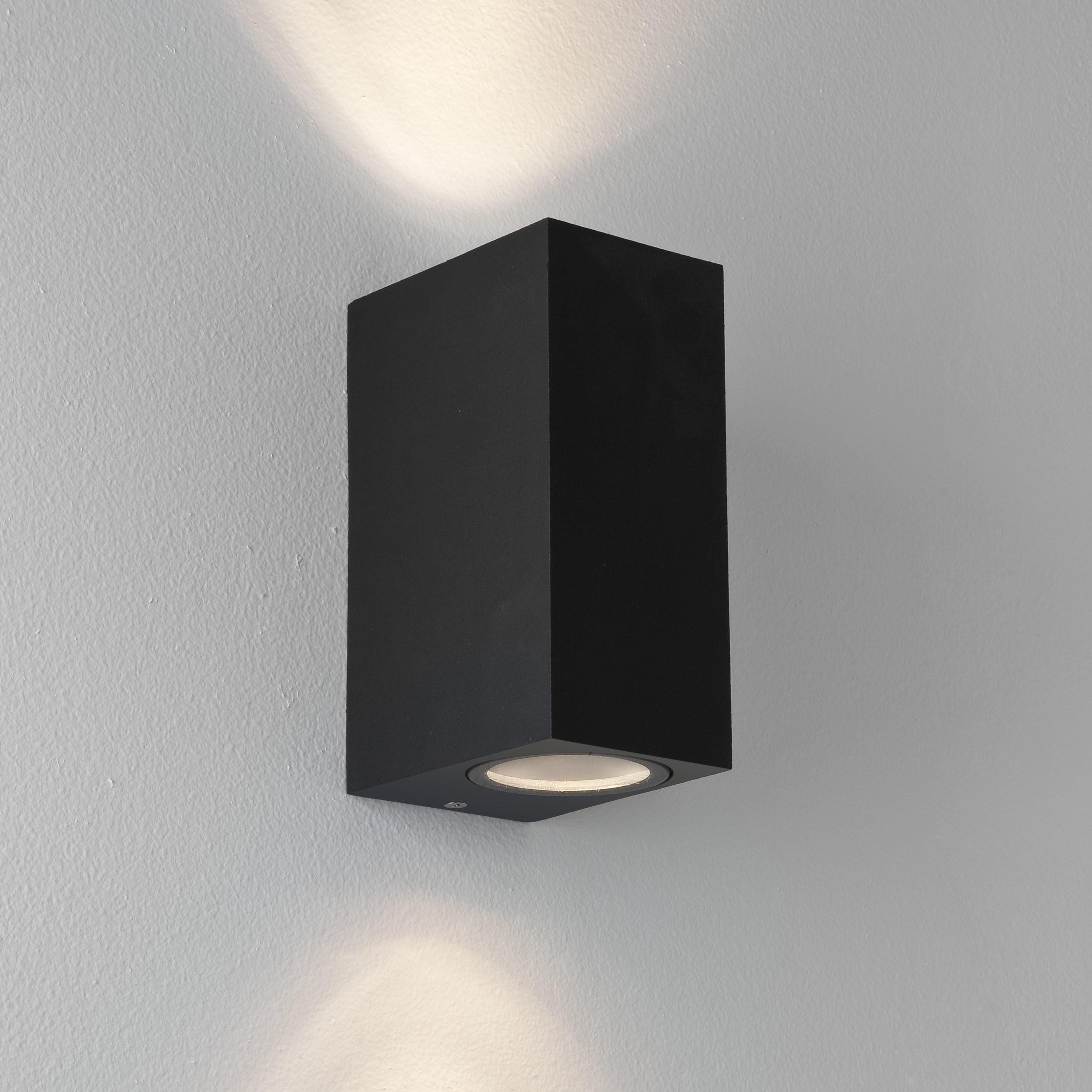 Настенный светильник Astro Chios 1310004 (7128), IP44, 2xGU10x6W, прозрачный, черный, металл, стекло - фото 1