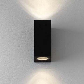 Настенный светильник Astro Chios 1310004 (7128), IP44, 2xGU10x6W, прозрачный, черный, металл, стекло - миниатюра 2