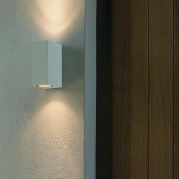 Настенный светильник Astro Chios 1310004 (7128), IP44, 2xGU10x6W, прозрачный, черный, металл, стекло - миниатюра 3
