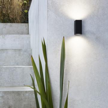 Настенный светильник Astro Chios 1310004 (7128), IP44, 2xGU10x6W, черный, металл, стекло - миниатюра 4