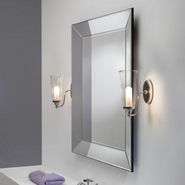 Бра Astro Biarritz 1314001 (7137), IP44, 1xG9x28W, хром, прозрачный, металл, стекло - миниатюра 2