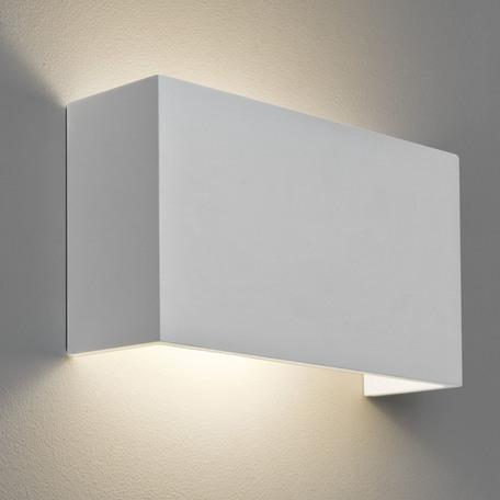 Настенный светильник Astro Pella 1315001 (7140), 1xE27x60W, белый, под покраску, гипс