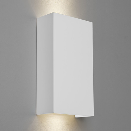 Настенный светильник Astro Pella 1315002 (7141), 2xGU10x50W, белый, под покраску, гипс - миниатюра 1