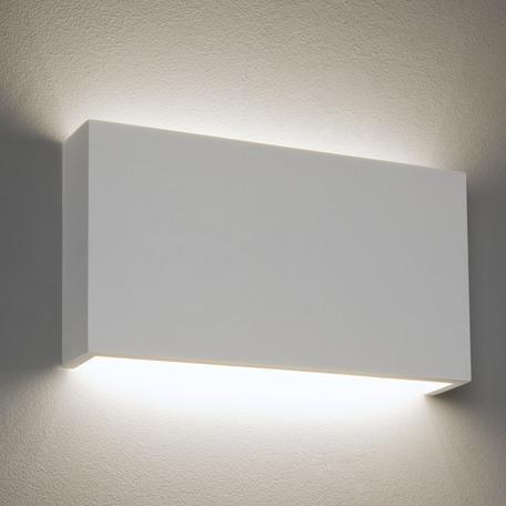 Настенный светодиодный светильник Astro Rio 1325001 (7172), LED 14,7W 3000K 1198lm CRI80, белый, под покраску, гипс