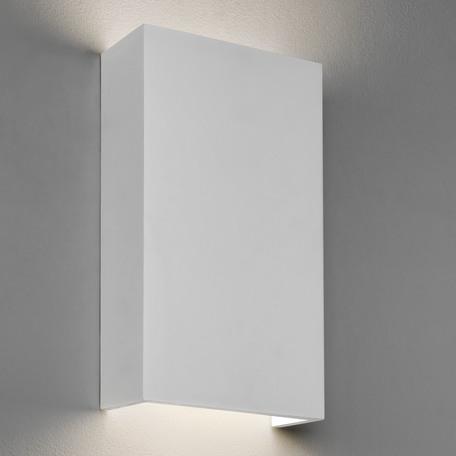 Настенный светодиодный светильник Astro Rio 1325002 (7173), LED 14,6W 3000K 1228lm CRI80, белый, под покраску, гипс