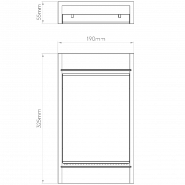 Схема с размерами Astro 1325002