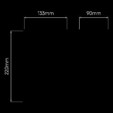 Схема с размерами Astro 1335001