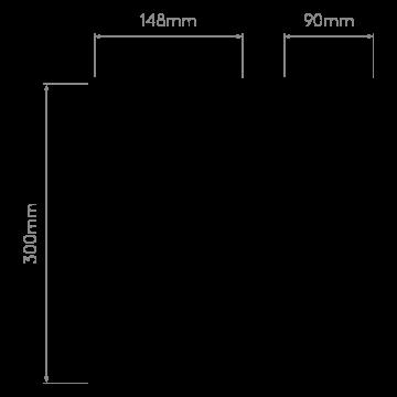 Схема с размерами Astro 1335003