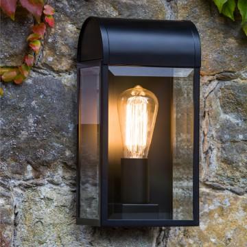 Настенный светильник Astro Newbury 1339001 (7267), IP44, 1xE27x60W, черный, прозрачный, стекло - миниатюра 4