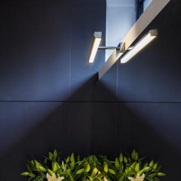 Настенный светодиодный светильник для подсветки зеркал Astro Kashima LED 1174003 (7348), IP44, LED 4,53W 3000K 165lm CRI80, хром, металл, пластик - миниатюра 3