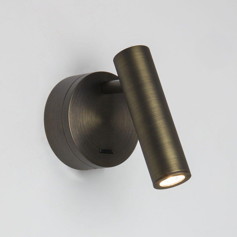 Настенный светодиодный светильник с регулировкой направления света Astro Enna LED 1058012 (7356), LED 4,47W, 2700K (теплый), бронза, металл - фото 1