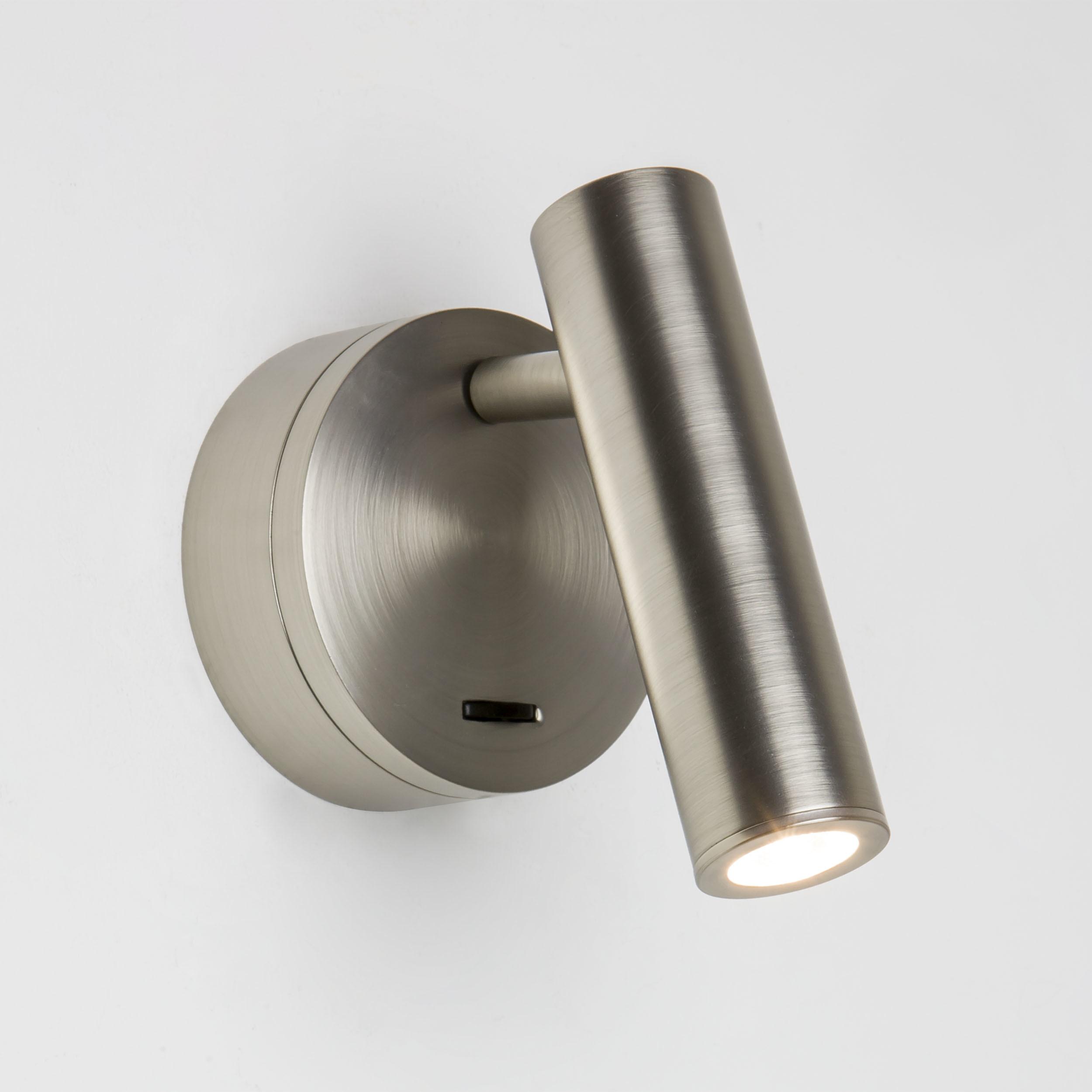 Настенный светодиодный светильник с регулировкой направления света Astro Enna LED 1058013 (7357), LED 4,47W 2700K 111.44lm CRI80, никель, металл - фото 1