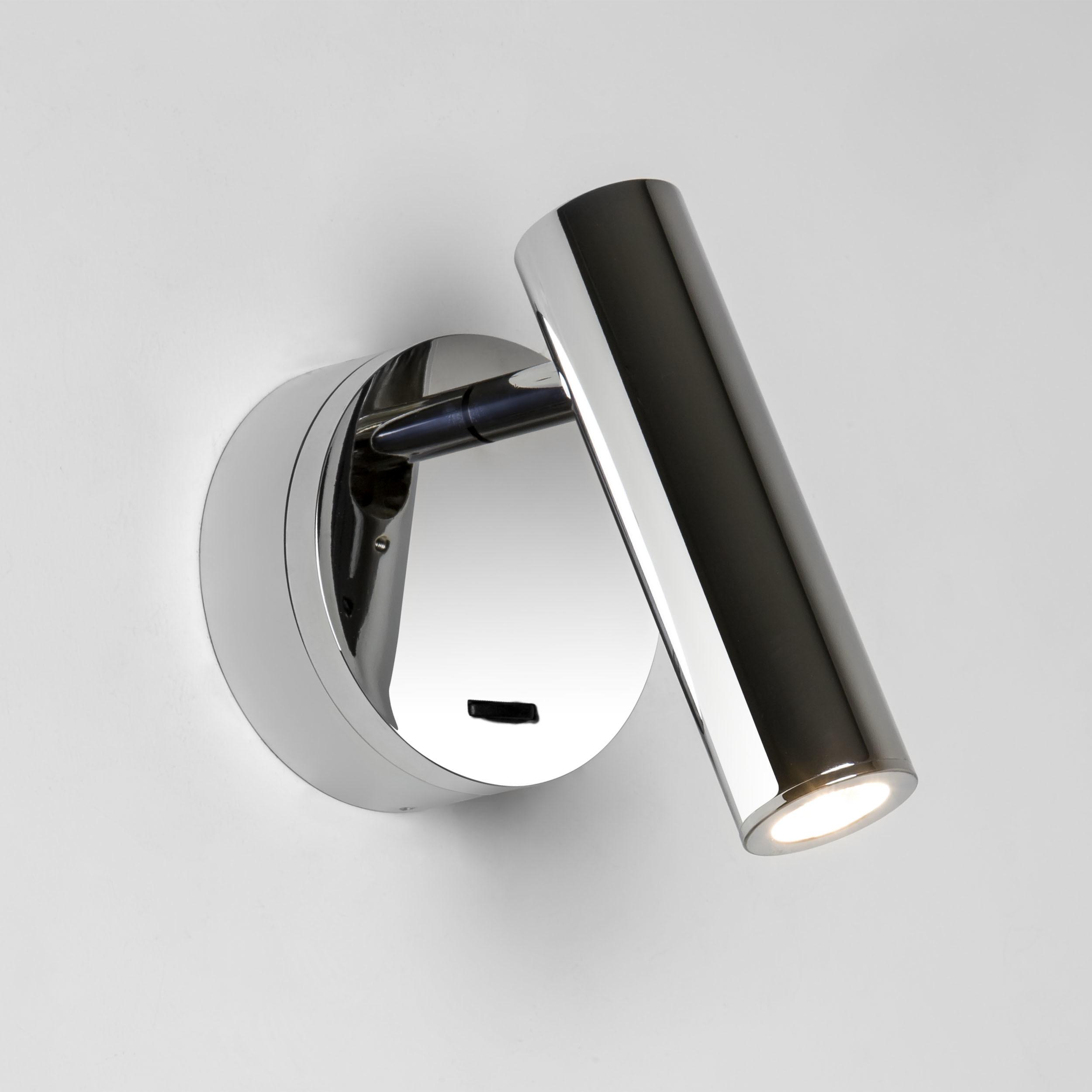 Настенный светодиодный светильник с регулировкой направления света Astro Enna LED 1058014 (7358), LED 4,47W 2700K 111.44lm CRI80, хром, металл - фото 1