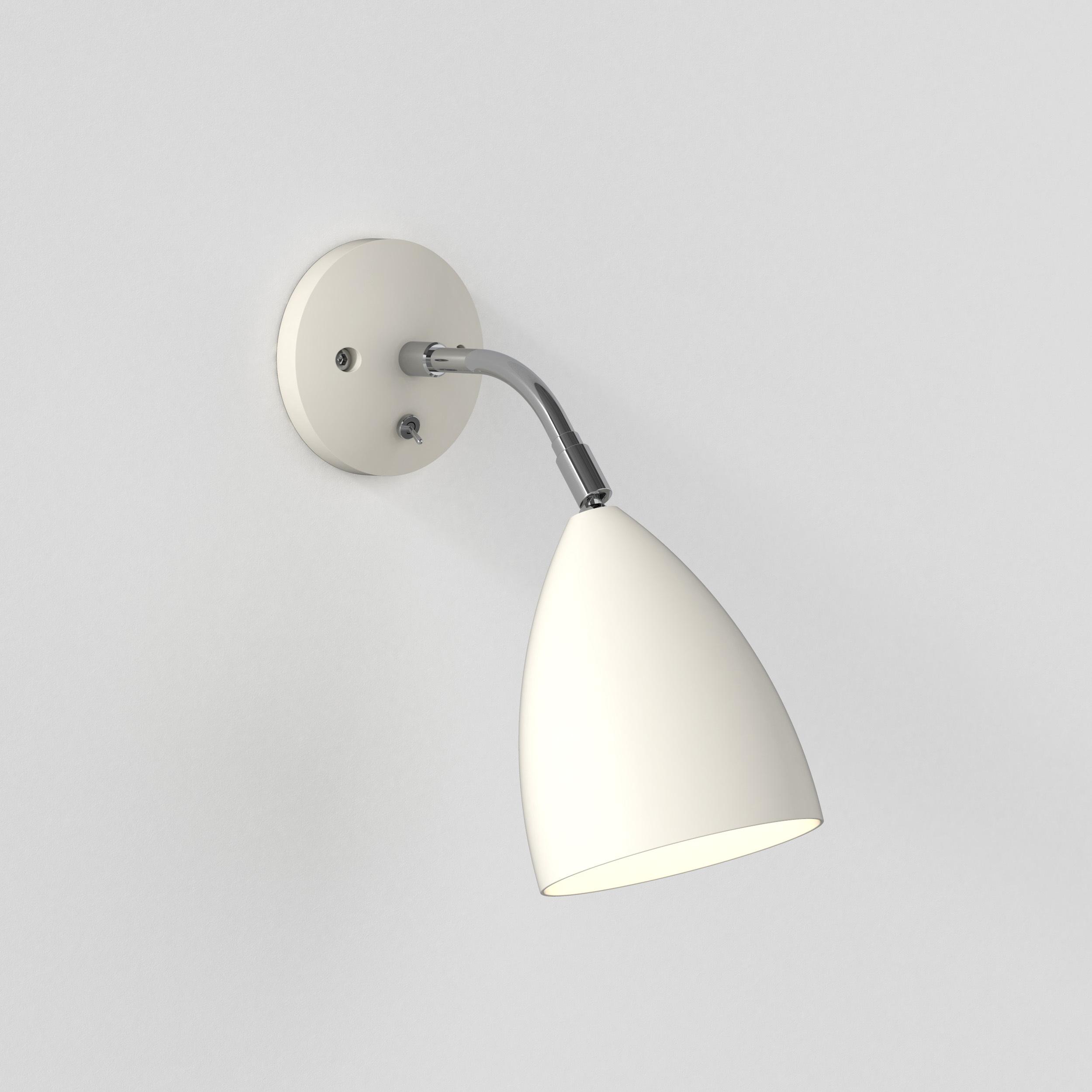 Настенный светильник с регулировкой направления света Astro Joel 1223015 (7158), 1xE27x42W, бежевый, металл - фото 1