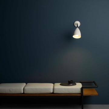 Настенный светильник с регулировкой направления света Astro Joel 1223015 (7158), 1xE27x42W, бежевый, металл - миниатюра 2