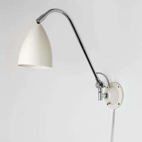 Настенный светильник с регулировкой направления света Astro Joel 1223021 (7251), 1xE27x42W, бежевый, хром, металл