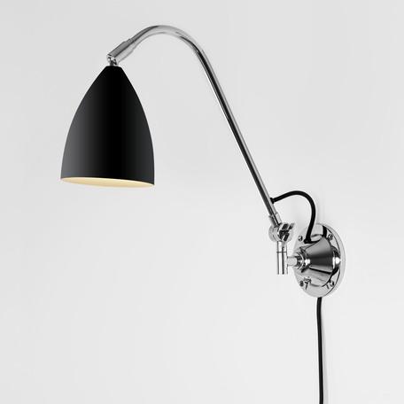 Настенный светильник с регулировкой направления света Astro Joel 1223022 (7252), 1xE27x42W, хром, черный, металл