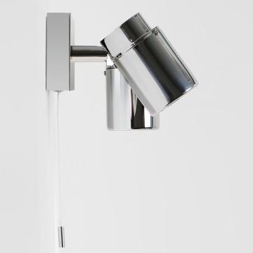 Настенный светильник с регулировкой направления света Astro Como 1282004 (6121), IP44, 2xGU10x35W, хром, прозрачный, металл, стекло - миниатюра 2