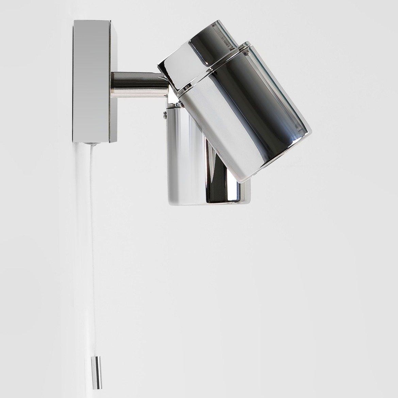 Настенный светильник с регулировкой направления света Astro Como 1282004 (6121), IP44, 2xGU10x35W, хром, прозрачный, металл, стекло - фото 2