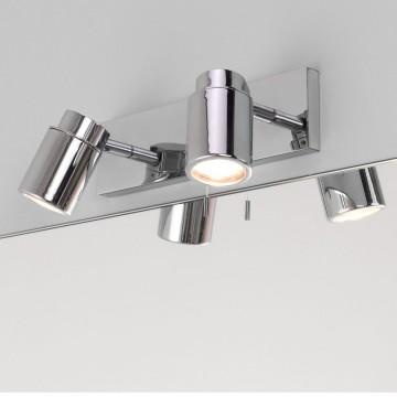 Настенный светильник с регулировкой направления света Astro Como 1282004 (6121), IP44, 2xGU10x35W, хром, прозрачный, металл, стекло - миниатюра 4