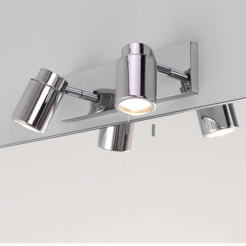 Настенный светильник с регулировкой направления света Astro Como 1282004 (6121), IP44, 2xGU10x35W, хром, прозрачный, металл, стекло - фото 4