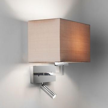 Основание бра с дополнительной подсветкой Astro Park Lane 1080029 (7467), 1xE27x60W + LED 2,2W 2700K 76lm CRI80, хром, металл