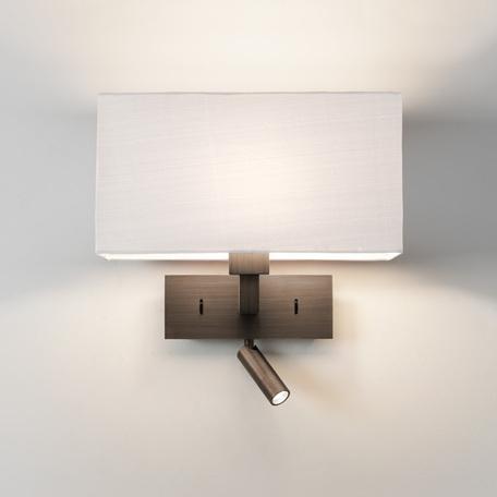 Основание бра с дополнительной подсветкой Astro Park Lane 1080031 (7469), 1xE27x60W + LED 2,2W 2700K 76lm CRI80, бронза, металл