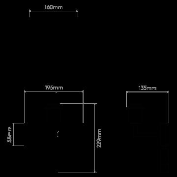 Схема с размерами Astro 1080031