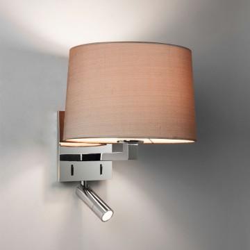 Основание бра с дополнительной подсветкой Astro Azumi Reader LED 1142033 (7464), 1xE27x60W + LED 1W 2700K 58lm CRI80, хром, металл - миниатюра 2