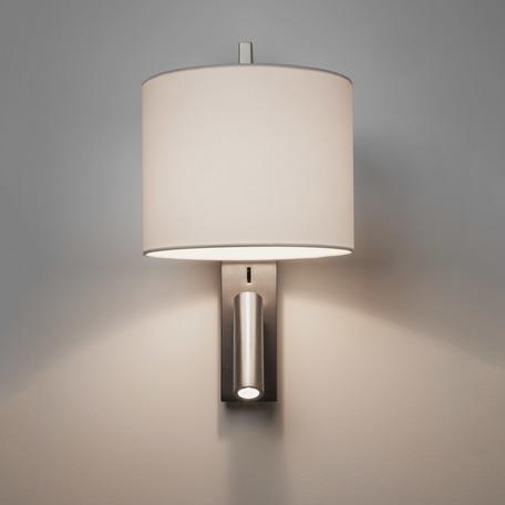 Основание бра с дополнительной подсветкой Astro Ravello LED 1222019 (7458), 1xE27x40W + LED 2W 2700K 111.1lm CRI80, никель, металл