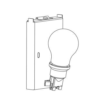 Основание настенного светильника Astro Backplate 1367003 (7170), 1xE27x60W, белый, металл - миниатюра 2