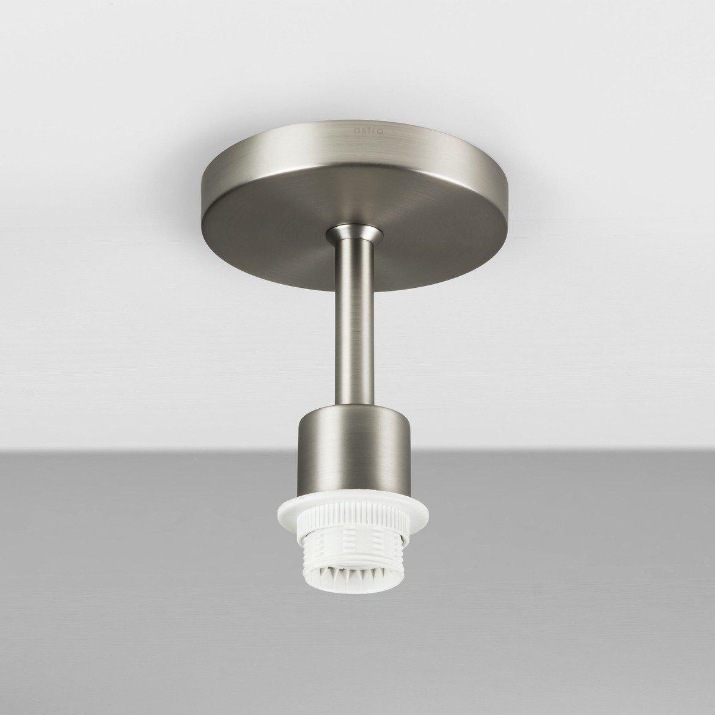 Основание потолочного светильника Astro Semi Flush Unit 1362002 (7461), 1xE27x60W, никель, металл - фото 1