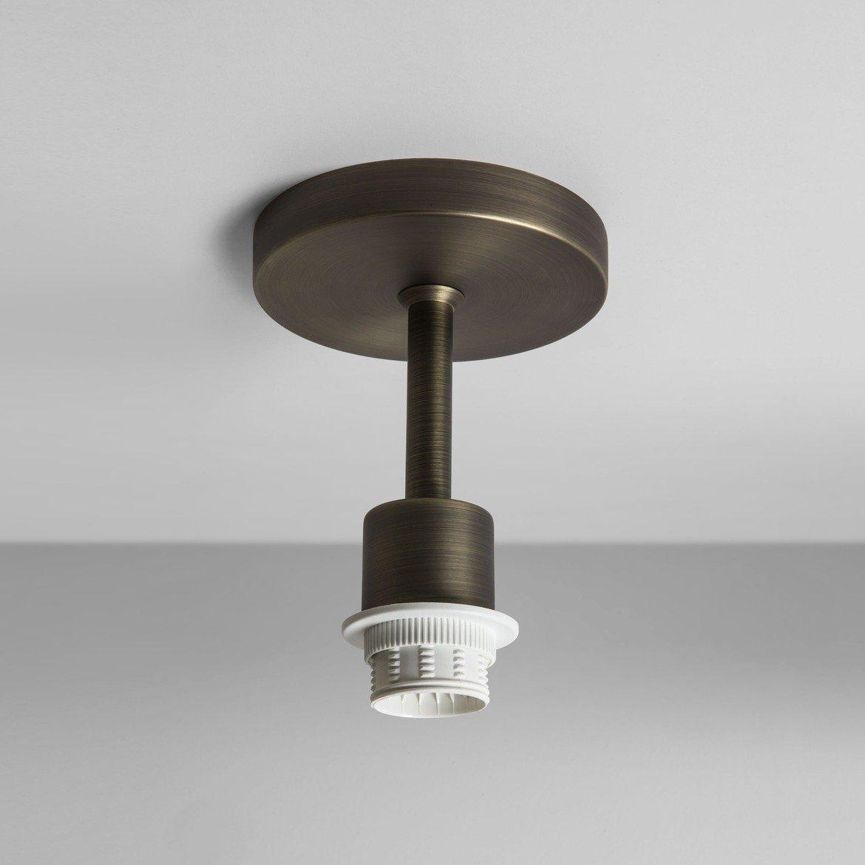 Основание потолочного светильника Astro Semi Flush Unit 1362003 (7462), 1xE27x60W, бронза, металл - фото 1