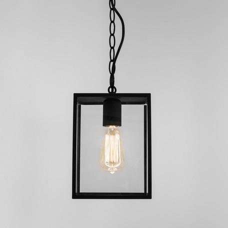 Подвесной светильник Astro Homefield 1095010 (7207), IP23, 1xE27x60W, черный, прозрачный, металл, стекло