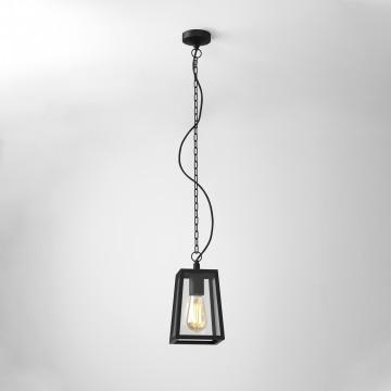 Подвесной светильник Astro Calvi 1306003 (7112), IP23, 1xE27x60W, черный, прозрачный, металл, стекло