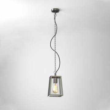 Подвесной светильник Astro Calvi 1306004 (7113), IP23, 1xE27x60W, хром, прозрачный, металл, стекло