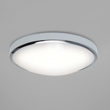 Потолочный светодиодный светильник Astro Osaka LED 1061006 (7412), IP44, LED 22,41W 3000K 1315.6lm CRI80, хром, металл с пластиком, пластик