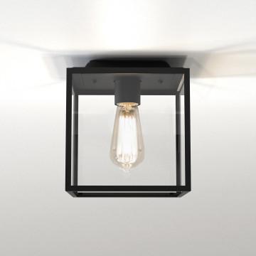 Потолочный светильник Astro Box 1354001 (7389), IP23, 1xE27x60W, черный, прозрачный, стекло